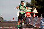 Green Jersey Primoz Roglic (SLO) Team Jumbo-Visma wins Stage 8 of the Vuelta Espana 2020 running 160km from Logroño to Alto de Moncalvillo, Spain. 28th October 2020.   <br /> Picture: Luis Angel Gomez/PhotoSportGomez | Cyclefile<br /> <br /> All photos usage must carry mandatory copyright credit (© Cyclefile | Luis Angel Gomez/PhotoSportGomez)