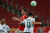 19th December 2020; Beira-Rio Stadium, Porto Alegre, Brazil; Brazilian Serie A, Internacional versus Palmeiras; Bruno Praxedes of Internacional is beaten to the header by Luan of Palmeiras