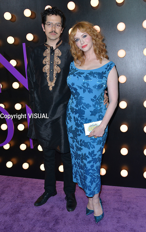 Christina Hendricks + husband Geoffrey Arend @ the premiere of 'The Neon Demon' held @ the Arclight theatre.<br /> June 14, 2016.