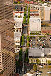 Aerial View in Fifth Avenue Transit Mall in Northwest Portland, Oregon