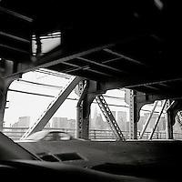 Empire State Building through 59th Street Bridge girders<br />
