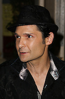 BEVERLY HILLS, CA, USA - MARCH 28: Corey Feldman at the Versace Unveiling Of The 1st Pop Recording Artist Superhero - KUBA Ka's Performance Outfits. Designed by the legendary fashion hosuse - Donatella Versace. For the Benefit of the Face Forward Foundation (Plastic Surgery for Destroyed Faces from Violence). Pop entertainer TV personality KUBA Ka, together with VERSACE, unveiled Kuba Ka's new Versace images, for the First Pop Artist/Superhero of the World. He has become the inspiration of Donatella's newest and wildest creations and will celebrate the launch of his new power house conglomerate - KUBA Ka Empire Inc. in collaboration with the sensational fashion house - VERSACE on Friday, his birthday at a red carpet media and celebrity event at the luxurious Peninsula Hotel in Beverly Hills held at the Peninsula Hotel on March 28, 2014 in Beverly Hills, California, United States. (Photo by Xavier Collin/Celebrity Monitor)