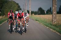 Jasper Stuyven (BEL/Trek-Segafredo) leading the final breakaway group<br /> <br /> 59th Grand Prix de Wallonie 2018 <br /> 1 Day Race from Blegny to Citadelle de Namur (BEL / 206km)