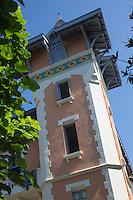 France, Aquitaine, Pyrénées-Atlantiques, Pays Basque, Biarritz: Villa Eneada, PLace du Poète Louis Guillaume //  France, Pyrenees Atlantiques, Basque Country, Biarritz: Villa Eneada,