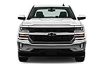 Car photography straight front view of a 2018 Chevrolet Silverado-1500 LT-Crew 4 Door Pick-up Front View