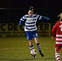 20140221 - OOSTAKKER , BELGIUM : Gent Lidewei Dewaele pictured during the soccer match between the women teams of AA Gent Ladies  and RAFC Antwerp Ladies , on the 19th matchday of the BeNeleague competition Friday 21 February 2014 in Oostakker. PHOTO DAVID CATRY