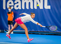 Amstelveen, Netherlands, 20  December, 2020, National Tennis Center, NTC, NK Indoor, National  Indoor Tennis Championships, Final womans single  : Lesley Pattinama-Kerkhove  (NED) <br /> Photo: Henk Koster/tennisimages.com