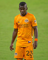 CARSON, CA - OCTOBER 28: Darwin Quintero #23 of the Houston Dynamo during a game between Houston Dynamo and Los Angeles FC at Banc of California Stadium on October 28, 2020 in Carson, California.