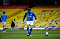 20th March 2021; Vicarage Road, Watford, Hertfordshire, England; English Football League Championship Football, Watford versus Birmingham City; George Friend warms up for Birmingham City.