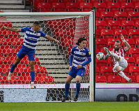 6th February 2021; Bet365 Stadium, Stoke, Staffordshire, England; English Football League Championship Football, Stoke City versus Reading; Steven Fletcher of Stoke City attempts a scissor kick shot on goal