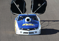 Feb. 23, 2013; Chandler, AZ, USA; NHRA pro stock driver Rodger Brogdon during qualifying for the Arizona Nationals at Firebird International Raceway. Mandatory Credit: Mark J. Rebilas-