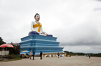 Buddha statue near Bokor<br /> , Cambodia<br /> <br /> PHOTO :  Agence Quebec Presse<br /> <br /> <br /> <br /> <br /> <br /> PHOTO : Agence Quebec Presse