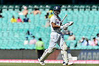 11th January 2021; Sydney Cricket Ground, Sydney, New South Wales, Australia; International Test Cricket, Third Test Day Five, Australia versus India; Ajinkya Rahane of India walks off the pitch after losing his wicket