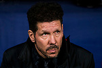 Coach Diego Simeone of Atletico de Madrid looks on prior to the La Liga 2017-18 match between Atletico de Madrid and CD Leganes at Wanda Metropolitano on February 28 2018 in Madrid, Spain. Photo by Diego Souto / Power Sport Images