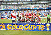 USMNT starting elven.  The USMNT defeated El Salvador 5-1 at the quaterfinal game of the Concacaf Gold Cup, M&T Stadium, Sunday July 21 , 2013.
