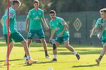 22.09.2020, Trainingsgelaende am wohninvest WESERSTADION - Platz 12, Bremen, GER, 1.FBL, Werder Bremen Training<br /> <br /> <br /> Nick Woltemade (werder Bremen #41)<br /> Pattrick Erras (Werder Bremen Neuzugang 29<br /> Milot Rashica (Werder Bremen #07)<br /> <br /> <br /> Foto © nordphoto / Kokenge