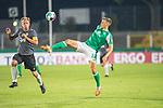12.09.2020, Ernst-Abbe-Sportfeld, Jena, GER, DFB-Pokal, 1. Runde, FC Carl Zeiss Jena vs SV Werder Bremen<br /> <br /> Maximilian Eggestein (Werder Bremen #35)<br /> René Eckardt (Carl Zeiss Jena #09)<br /> <br /> <br />  <br /> <br /> <br /> Foto © nordphoto / Kokenge