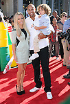 Hank Baskett , Kendra Wilkinson Baskett and Henry Randall Baskett IV at Disney's World Premiere of Planes held at the El Capitan Theatre in Hollywood, California on August 05,2013                                                                   Copyright 2013 Hollywood Press Agency