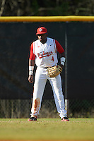 Ohio State Buckeyes left fielder Ronnie Dawson (4) during a game against the Illinois State Redbirds on March 5, 2016 at North Charlotte Regional Park in Port Charlotte, Florida.  Illinois State defeated Ohio State 5-4.  (Mike Janes/Four Seam Images)