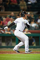 Scottsdale Scorpions Greg Bird (33), of the New York Yankees organization, during a game against the Salt River Rafters on October 12, 2016 at Scottsdale Stadium in Scottsdale, Arizona.  Salt River defeated Scottsdale 6-4.  (Mike Janes/Four Seam Images)