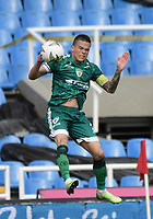 CALI - COLOMBIA, 04-04-2021: Walmer Pacheco de Equidad en acción durante partido por la fecha 17 como parte de la Liga BetPlay DIMAYOR I 2021 entre América de Cali y La Equidad jugado en el estadio Pascual Guerrero de la ciudad de Cali. / Walmer Pacheco of Equidad in action during match between America de Cali and La Equidad for the date 17 as part of Liga BetPlay DIMAYOR I 2021 played at Pascual Guerrero stadium in Cali city. Photo: VizzorImage / Gabriel Aponte / Staff