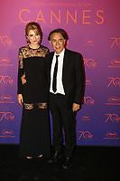 Richard Berry et sa compagne Pascal - CANNES 2017 - RED CARPET DU DINER DE GALA