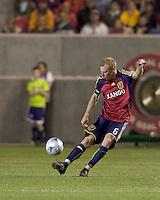 Real Salt Lake defender Nat Borchers (6). Real Salt Lake tied the Colorado Rockies, 1-1, at Rio Tinto Stadium on June 6, 2009