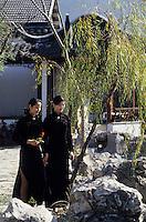 Asie/Chine/Jiangsu/Env Nankin: Jardin de Contemplation - La résidence du Roi de l'Est et chinoises dans les jardins<br /> PHOTO D'ARCHIVES // ARCHIVAL IMAGES<br /> CHINE 1990