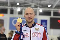 SPEEDSKATING: 14-02-2020, Utah Olympic Oval, ISU World Single Distances Speed Skating Championship, Podium 500m Men, Pavel Kulizhnikov (RUS), ©Martin de Jong