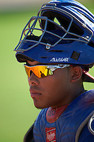 Texas Rangers Isaias Quiroz (9) during an instructional league game against the San Diego Padres on October 9, 2015 at the Surprise Stadium Training Complex in Surprise, Arizona.  (Mike Janes/Four Seam Images)