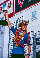 Sunset Beach, North Shore, Oahu, Hawaii. Cheyne Horan (AUS) won the Billabong Pro Hawaii at Sunset Beach in the North Shore Winter surf season of 1989-1990. Photo:joliphotos