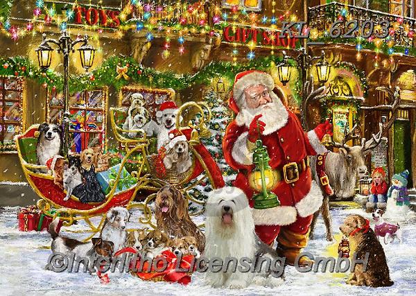 CHRISTMAS SANTA, SNOWMAN, WEIHNACHTSMÄNNER, SCHNEEMÄNNER, PAPÁ NOEL, MUÑECOS DE NIEVE, paintings+++++,KL6203,#x# ,puzzle,puzzles