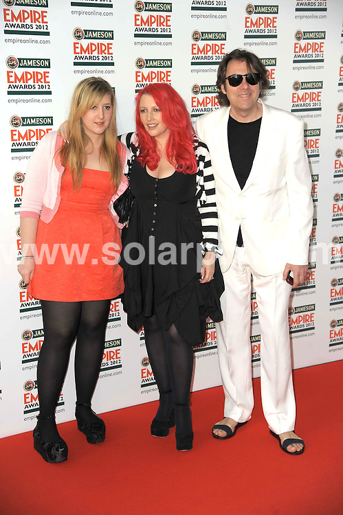 **ALL ROUND PICTURES FROM SOLARPIX.COM**                                             **WORLDWIDE SYNDICATION RIGHTS**                                                                                  Empire Film Awards at the Grovsnor House Hotel in London..This pic:   Honey Kinney, Jane Goldman, Jonathan Ross                                                                       .JOB REF:   14607   MSR       DATE:   26.03.12                                                        **MUST CREDIT SOLARPIX.COM OR DOUBLE FEE WILL BE CHARGED**                                                                      **MUST AGREE FEE BEFORE ONLINE USAGE**                               **CALL US ON: +34 952 811 768 or LOW RATE FROM UK 0844 617 7637**