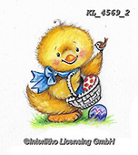 EASTER, OSTERN, PASCUA, paintings+++++,KL4569/2,#e#, EVERYDAY ,chicks,chicken ,sticker,stickers