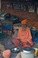 Sadu living Quarters at Pashupatinath Cremation and Temple Area in Kathmadu, Nepal