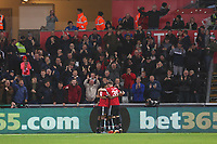 Jesse Lingard of Manchester United celebrates scoring his sides second goal of the match  during the Carabao Cup Fourth Round match between Swansea City and Manchester United at the Liberty Stadium, Swansea, Wales, UK. Tuesday 24 October 2017