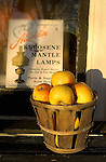 Fruit in basket at old general store