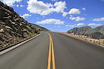 Trail Ridge Road in Rocky Mountain National Park, west of Estes Park, Colorado.
