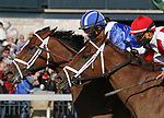 April 03, 2021: Malathaat #5 ridden by Joel Rosario wins the Ashland Stakes (Grade 1) on Blue Grass Stakes Day at Keeneland Race Course in Lexington, Kentucky on April 03, 2021. Candice Chavez/Eclipse Sportswire/CSM