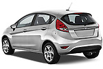 Rear three quarter view of a 2012 Ford Fiesta SES 5 Door Hatchback