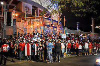 San Jose, Costa Rica - November 15, 2016: The U.S. Men's National team take on Costa Rica during Hexagonal round action in a World Cup Qualifying match at Estadio Nacional de Costa Rica.