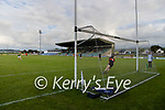 Daniel Collins scores a goal from a penalty during the Kerry Senior Hurling championship first round natch between Kilmoyley and Balluheigue on Friday.