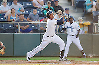 Corey Simpson #36 of the Everett AquaSox at bat during a game against the Salem-Keizer Volcanoes at Everett Memorial Stadium in Everett, Washington on July 9, 2014.  Salem-Keizer defeated Everett 6-4.  (Ronnie Allen/Four Seam Images)