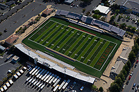 aerial photograph the football stadium at the Vintage High School, City of Napa, Napa County, California