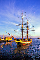 The Carthaginian II Whaling ship.  An historical whaling ship located in the town of Lahaina.