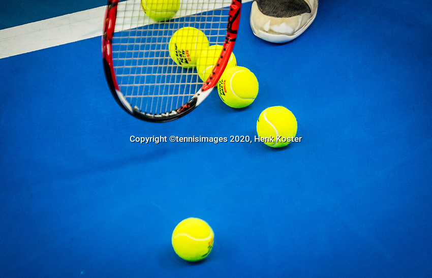 Amstelveen, Netherlands, 18  December, 2020, National Tennis Center, NTC, NK Indoor, National  Indoor Tennis Championships,   : balls (NED) <br /> Photo: Henk Koster/tennisimages.com