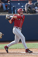 Ben Roberts #11 of the Washington State Cougars bats against the Cal State Fullerton Titans at Goodwin Field on  February 15, 2014 in Fullerton, California. Washington State defeated Fullerton, 9-7. (Larry Goren/Four Seam Images)
