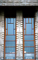 F. L. Wright: Storer House. Window Detail. (Photo '82)