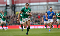 Saturday 10th February 2018 | Ireland vs Italy<br /> <br /> Jacob Stockdale races clear to score during the Six Nations Rugby Championship match between Ireland and Italy at the Aviva Stadium, Lansdowne Road,  Dublin Ireland. Photo by John Dickson / DICKSONDIGITAL