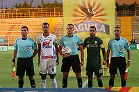 BOGOTA - COLOMBIA - 21 - 08 - 2017:Edilson Ariza referee central. Equidad y Atlético Huila en partido por la fecha 9 de la Liga Aguila II 2017 jugado en el estadio Metropolitano de Techo de la ciudad de Bogota. / Central Referee Edilson Ariza. Equidad and Atletico Huila in match for the date 9 of the Liga Aguila II 2017 played at the Metropolitano de Techo  Stadium in Bogota city<br /> , Photo: VizzorImage  /Felipe Caicedo / Staff.